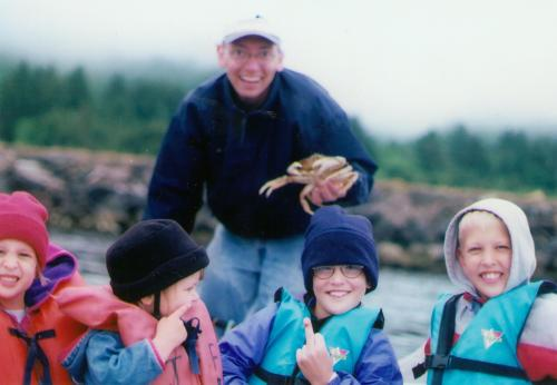 Grandpa Earl wasn't the only one with a crab pinch.